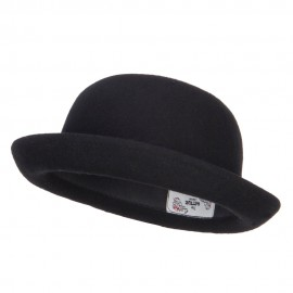 Wool Felt Upturn Brim Bowler Hat