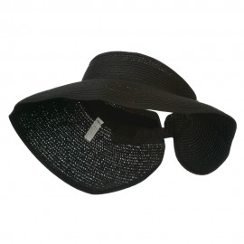 UPF 50+ Bow Closure Roll Up Visor - Black