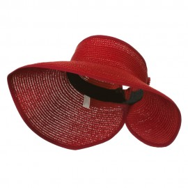 UPF 50+ Bow Closure Roll Up Visor - Red