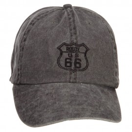 US Route 66 Embroidered Big Washed Cap
