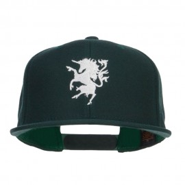 Unicorn Emblem Embroidered Snapback Cap