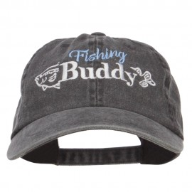 Fishing Buddy Embroidered Washed Cap
