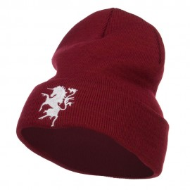 Unicorn Emblem Embroidered Long Beanie