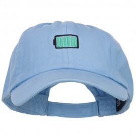 Full Battery Symbol Embroidered Cotton Cap
