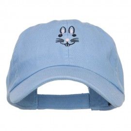 Easter Bunny Face Embroidered Low Cap