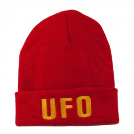 UFO Embroidered Long Beanie