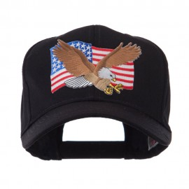 USA Flag Style Military Patch Cap - Eagle