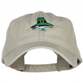 Leprechaun Hat Embroidered Washed Cotton Cap