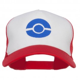 Ash Ketchum Poke Ball Embroidered Mesh Cap