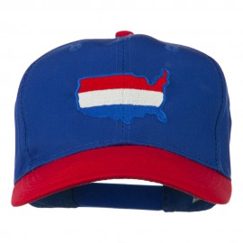 United States Map Embroidered Cap