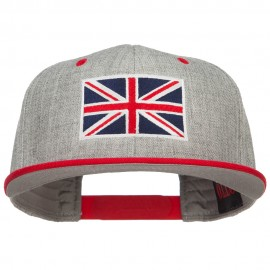 United Kingdom Flag Embroidered Two Tone Cap