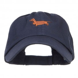 Dachshund Dog Embroidered Low Cap