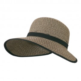 UPF 50+ Protective Wide Brim Sun Hat - Black Tweed