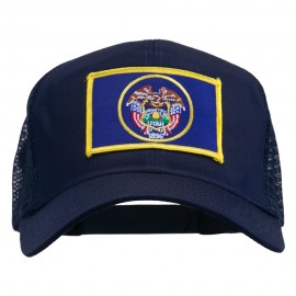 Utah State Flag Patched Mesh Cap