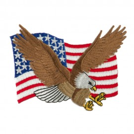 USA Flag Style Embroidered Patch