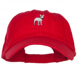 Bull Terrier Dog Embroidered Low Cap