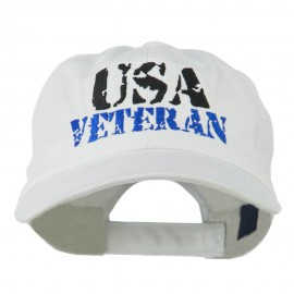 USA Veteran Camo Embroidered Cap