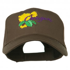 USA State Oregon Flowers Embroidered Low Profile Cap