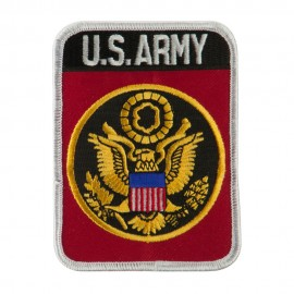 US Army Military Large Patch - Red US