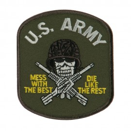 US Army Military Large Patch - Green US