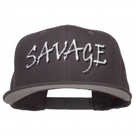 Savage Embroidered Cotton Snapback