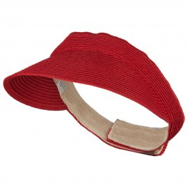 UPF 50+ Crushable Toyo Sun Visor - Red