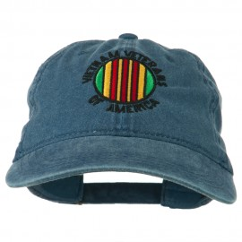 Vietnam Veterans Badge Embroidered Washed Cap