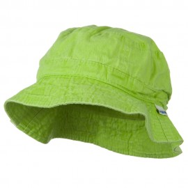 Vacational Cotton Twill Bucket Hat - Lime