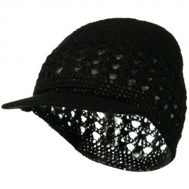 Visor Cotton Kufi Cap - Black