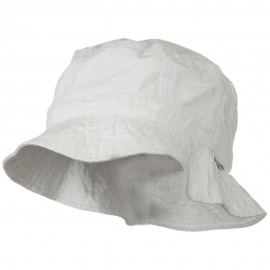 Vacational Cotton Twill Bucket Hat - White