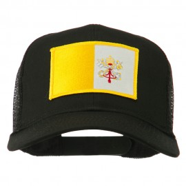 Vatican City Flag Patched Mesh Cap