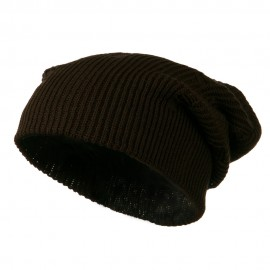 Vintage Deep Shell Beanie - Brown