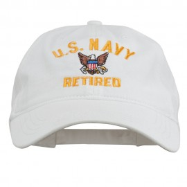 US Navy Retired Embroidered Pet Spun Cap