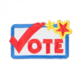 Vote Embroidered Patch