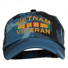 Vietnam Veteran Embroidered Enzyme Washed Cap - Sky