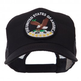 Veteran Embroidered Military Patched Mesh Cap - USA