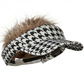 Interchangeable Faux Hair Piece Foldable Cotton Visor