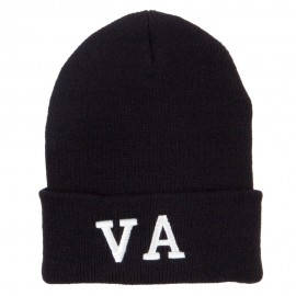 VA Virginia State Embroidered Long Beanie