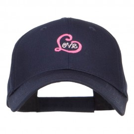 Love Heart Embroidered Cotton Cap