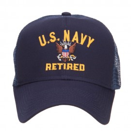 US Navy Retired Military Embroidered Mesh Cap