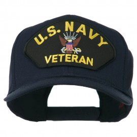 US Navy Veteran Military Patched High Profile Cap - Navy