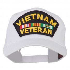 Vietnam Veteran Military Patched Mesh Back Cap