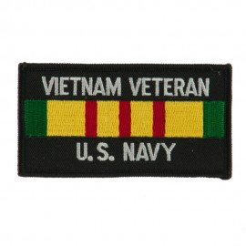 Veteran Rectangle Embroidered Military Patch - VN Navy