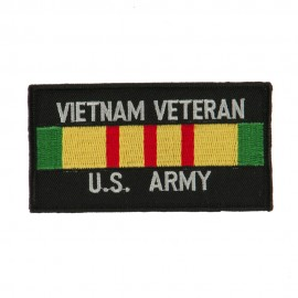 Veteran Rectangle Embroidered Military Patch - VN Army