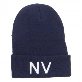 Nevada State NV Embroidered Cuff Beanie