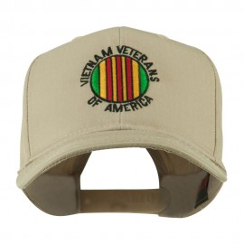 Vietnam Veterans of America Badge Embroidered Cap - Khaki