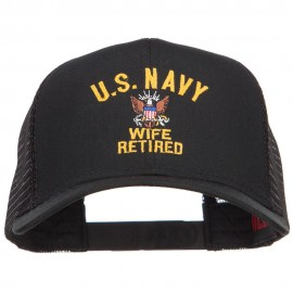 U.S. Navy Wife Retired Embroidered Mesh Cap