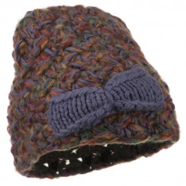 Women's Bow Mix Yarn Acrylic Beanie