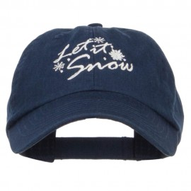 Let it Snow Embroidered Pet Spun Cap - Navy