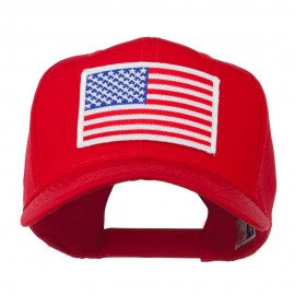 White American Flag Patched Cap